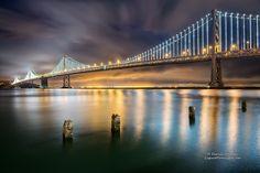 The largest light sculpture ever - The San Francisco Bay Bridge
