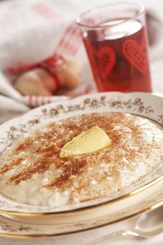 Norwegian rice pudding, traditional Christmas meal, perfect in any cold weather!