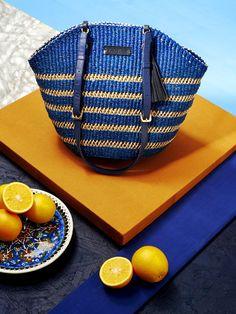 AAKS Handcrafted Bags in Ghana MANNI MARINE.jpg- cobal blue - mustard - orange - dark grey - cyan color