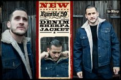 Rumble59 Denim Sherpa Jacket /// This jacket is keeping you warm, looking great and is just perfect for unloading your Pick-Up in the Montana farmland, for getting across the border with a truckload of Moonshine or simply to weather a regular european winter.
