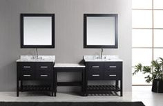 Home :: Bathroom Vanities :: Two London Single Sink Vanity Set in Espresso with One Make-up table in Espresso 36 Inch Bathroom Vanity, Home Depot Bathroom Vanity, Bathroom Vinyl, Cheap Bathroom Remodel, Small Bathroom Sinks, Best Bathroom Vanities, Single Sink Bathroom Vanity, Cheap Bathrooms, Bathroom Vanity Cabinets