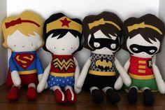 Custom Dolls, Superhero Dolls, Wonder Girl, Super Girl, Rag Doll, Fabric Doll, Cloth Doll, Handmade Doll