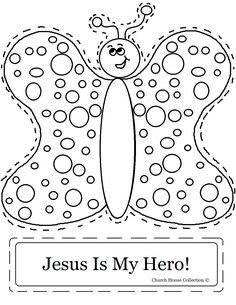Coloring sheet for a children's church theme lesson. But