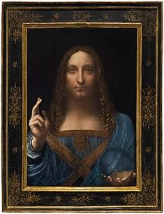 Artwork by Leonardo da Vinci, Salvator Mundi, Made of oil on panel Salvador, Paintings Of Christ, Jesus Painting, Most Expensive Painting, Salvator Mundi, Italian Paintings, Old Famous Paintings, Caravaggio, Cultural