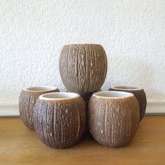 Vintage Tiki Coconut Mugs Islander Stockton by nellsvintagehouse