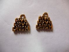 Buy SALE !!!!!Charm, Antiqued, Gold Plated, Pewter, Tin Based Alloy, 13x11mm, Single Sided, 3Tiered, Live Love Laugh, Pkg Of 2 SALE !!!!!!!!! by darsjewelrysupplies. Explore more products on http://darsjewelrysupplies.etsy.com