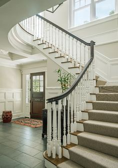 Classic Elegance - traditional - staircase - boston - by Jan Gleysteen Architects, Inc