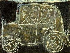 Jean Dubuffet - Voyage en auto, 1946  http://www.pinterest.com/vouterb2/jean-dubuffet/