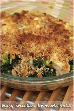 An easy crowd-pleaser recipe for a week night: easy chicken, broccoli and mustard bake