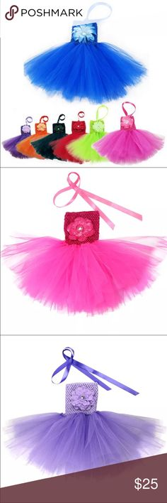 Girls Tutu😊$18 2016 new girls boutique dress Tutu .Love this baby girl dress for birthday party princess or for photo shot . I have pink XS Dresses Formal
