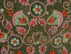 Detail of the embroidery on the Schiaparelli jacket.