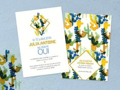 faire part de mariage cactus et aventure imprimer wedding invitation - Faire Part Mariage Etsy