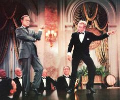Bob Hope dancing with James Cagney reprising his roles as George M. Cohan in the Seven Little Foys!