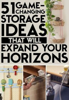 51 Game-Changing Storage Solutions That Will Expand Your Horizons - Diy Organization Ideas Organisation Hacks, Storage Organization, Storage Ideas, Organizing Ideas, Diy Storage Solutions, Tape Storage, Storage Hacks, Closet Storage, Diy Rangement
