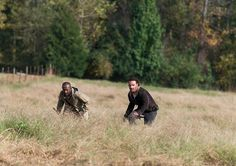 Morgan Jones (Lennie James) and Rick Grimes (Andrew Lincoln) in Episode 15 Photo by Gene Page/AMC The Walking Dead Season 6 Episode Photos