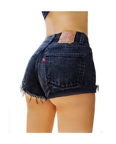Levis High Waisted Denim Shorts Cuffed Rolled by BaileyRayandCo