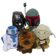 Star Wars plush Darth Vader, Boba Fett, R2-D2, Chewbacca, Yoda $7.99
