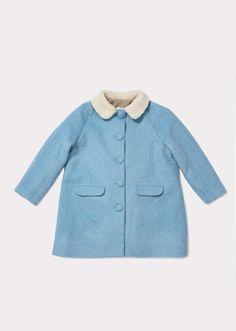 Larimar Coat, Powder Blue
