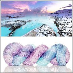 Blue Lagoon - alpaca silk dk yarn by expression fiber arts