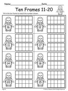 188 Best Ten Frames Images First Class Kindergarten Math