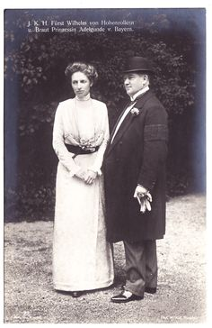 Prince Wilhelm Von Hohenzollern and his second wife, Princess Adelgunde of Bavaria.  They were of the Roman Catholic royalty and Wilhelm certainly has the look.  Wilhelm and Adelgunde had no children.