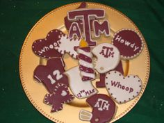 Texas A&M Aggie Birthday Cookies by Sweet Station, College Station, TX.