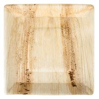 EcoChoice 10 inch Square Disposable Palm Leaf Plate - 100 / Case