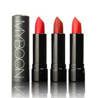 Nueva prueba de agua lápiz labial brillo de labios maquillaje Lipgloss terciopelo mate lápiz labial rojo Color por Myboon
