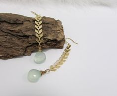 Hey, I found this really awesome Etsy listing at https://www.etsy.com/listing/462128327/blue-chalcedony-earring-gold-chic