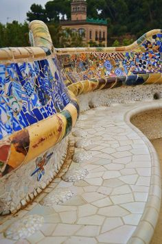 Make mosaics like this! Barcelona, Spain Gaudi - Park Guell
