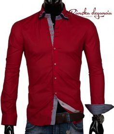 eb7073ff519b Červená pánska košeľa  shirt  men  mensshirts  elegant  panskakosela  muzi