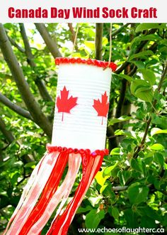 Echoes of Laughter: Canada Day Wind Sock Craft Canada Day Party, Diy Arts And Crafts, Crafts To Do, Crafts For Kids, Canada Day Windsock, Canada Day Fireworks, Canada Day Crafts, Easy Art For Kids, Dragons