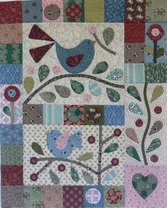 Berries & Bluebirds BOM complete set - by Gail Pan DesignsSECONDARY_SECTION$129.00: Fabric Patch: Patchwork Quilting fabrics, Moda fabric, Quilt Supplies,�Patterns