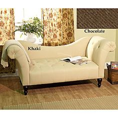 This lovely Chloe roll-arm chaise is perfect for any home decor.  It features a curved back and rolled arms that is constructed out of solid wood.
