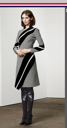 Thom Browne - Sweater dress. Also like the tights.