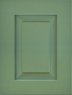 """Marano Raised Panel Door  Available Material: MDF Color Shown: Sage Paint Available in All Outside Profiles - Shown with 18"""" Roundover Outside Profile Raised Panel Doors, Face Framing, Custom Cabinetry, Cabinet Doors, Color Show, Sage, Profile, Traditional, Paint"""