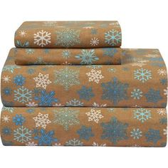 Pointehaven Heavy Weight Printed Flannel Sheet Set Size: Twin