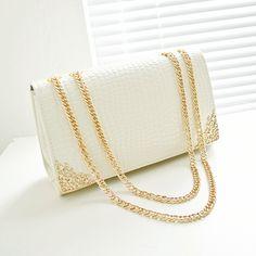 15.48$  Watch more here - Free shipping, 2017 new summer trend women bag, han edition crocodile lines handbags, gold chain retro women messenger bags.   #magazineonlinewebsite