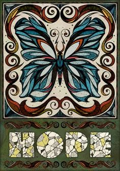 """HOPE"" by Andreas Preis #hope #poster #butterfly"