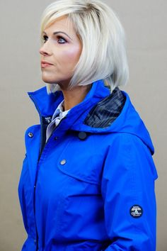 Barbour Trevose Jacket in Victoria BLUE - Smyths Country Sports Rain Jacket Women, Waterproof Coat, Navy Stripes, Barbour, Canada Goose Jackets, Windbreaker, Winter Jackets, Victoria, Country