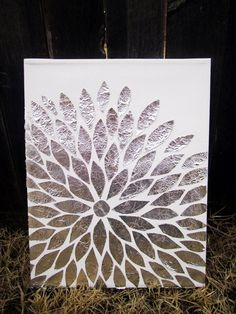 Top 10 Ideas for Shiny Aluminum Foil   Crafts - this would be awesome with a bright painted   background!!