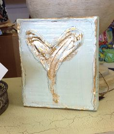 Jennifer Rodrigue Heart Painting  now in stock at ld linens & decor  love it.