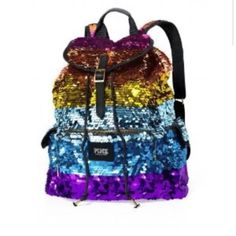 ISO RAINBOW SEQUIN BACKPACK ! In search of this rainbow Victoria's Secret bag for $115 or less. PINK Victoria's Secret Bags Backpacks