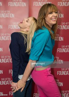 Actors Anna Faris (L) and Allison Janney attend SAG-AFTRA Foundation Conversations with Anna Faris and Allison Janney for ''Mom' at SAG Foundation Actors Center on May 3, 2016 in Los Angeles, California.