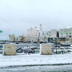 #january #2K17 #snow #marina #sea #boats #oldcity #sky #cloud☁ #wind #bestmoment #bestview #amazing #awesome