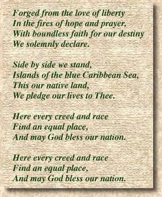 The National Anthem of Trinidad and Tobago. The National Anthem was written to celebrate T's independence from Great Britain on August 31, 1962. A nation-wide contest was held in search of the best anthem to accompany this momentous occasion. The winner of the contest was Patrick S. Castagne.