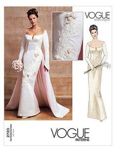 Vogue+2720++Misses'+Bridal+Gown+++Size+12-14-16++Bust++34-36-38,+$10.75