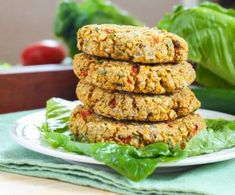 Roasted Red Pepper Chickpea Burgers by Eat Spin Run Repeat
