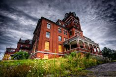 Odd Fellows Home circa 1892 Ruins, dilapidated, decay, abandoned