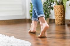 If you have glueless laminate flooring installed, there is a chance that it could start to warp and rise up in the middle at some point.